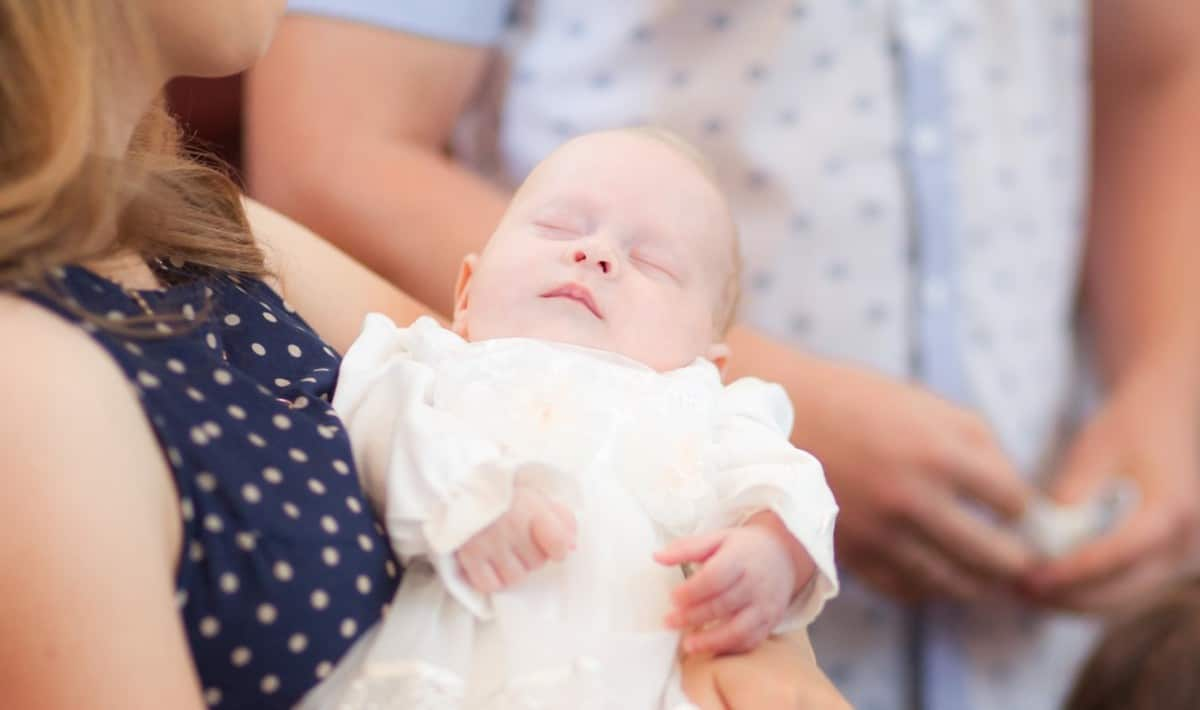 Baby Baptism - being held