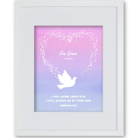 Dove Girl Personalised Faith Print