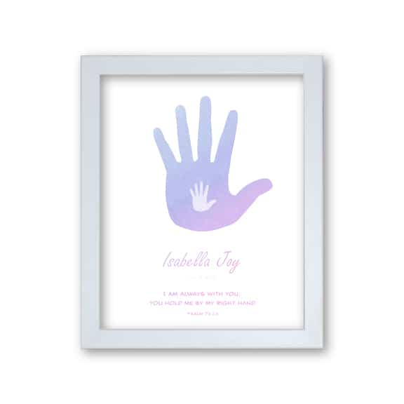 Girls Personalised Faith Print Hands