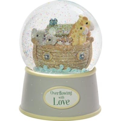 Baby Boy musical snow globe - Noahs Ark