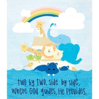 Baby Boy wall plaque - Noah's Ark