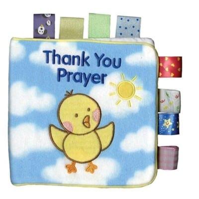 Baby Girl Cloth Book - Thank You Prayer
