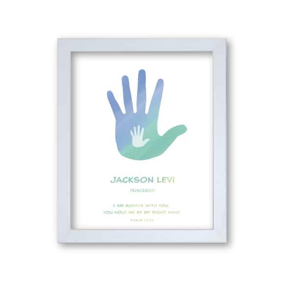 Hand Boy - Faith Baptism Print