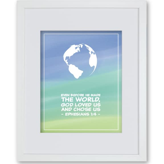 World - Baptism Faith Print Boy