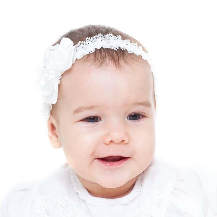 baby christening headband