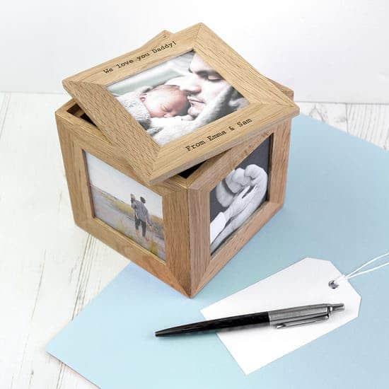cube keepsake box ajar