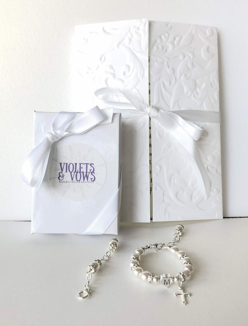 Goddaughter Pearl Bracelet with card