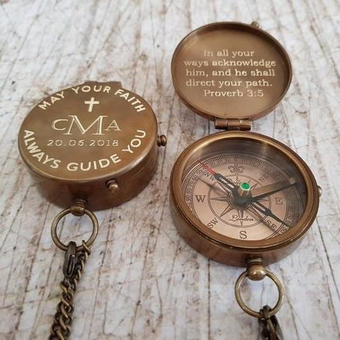 Compass Engraved