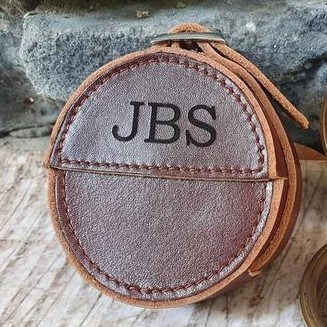 Compass Leather Pouch