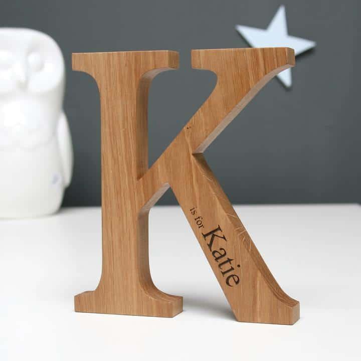Personalised Oak Letter - Godson baptism gift